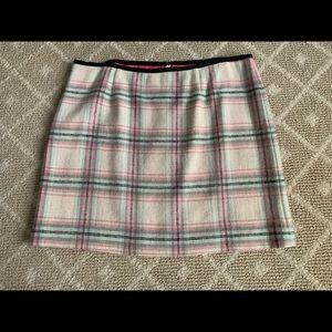 Vineyard Vines cream/pink/blue wool skirt